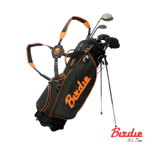 stand bag black orange